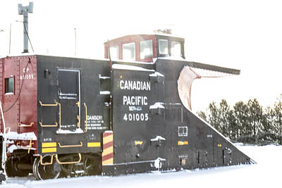 Canadian Pacific Snow Plow Poster