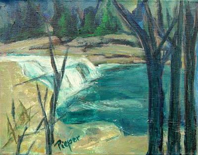 Canajoharie Creek Near Village Poster by Betty Pieper