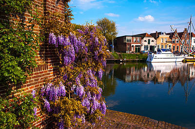 Canal In Brielle. Netherlands Poster