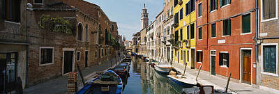 Canal Passing Through A City, Venice Poster