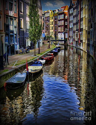 Canals Of Amsterdam Poster by Lee Dos Santos
