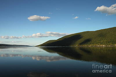 Canandaigua Lake Reflection Poster by Steve Clough