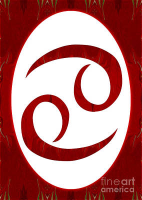 Cancer And Root Chakra Abstract Spiritual Artwork By Omaste Witk Poster by Omaste Witkowski