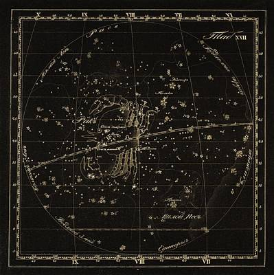 Cancer Constellations, 1829 Poster