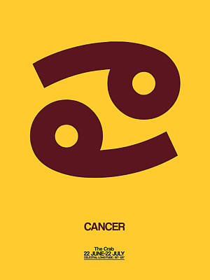 Cancer Zodiac Sign Brown Poster by Naxart Studio