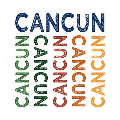Cancun Cute Colorful Poster