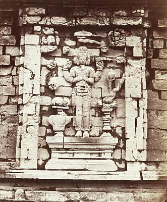 Candi Srikandi, Details Of The Southern Niche Decorated Poster by Artokoloro