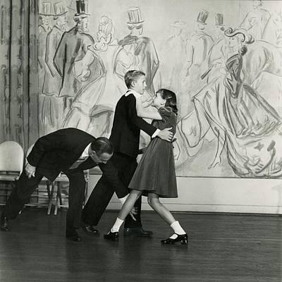 Candida Mabon And William C. Breed At Dancing Poster by Frances Mclaughlin-Gill