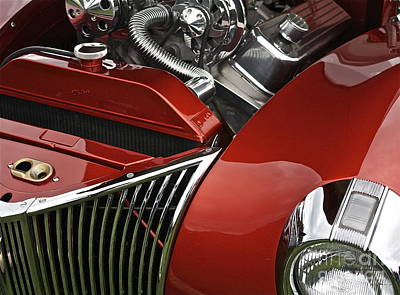 Candy Apple Red And Chrome Poster