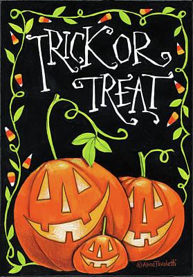 Candy Corn Poster by Anne Tavoletti