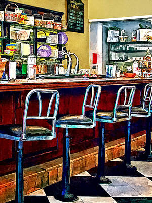 Candy Store With Soda Fountain Poster by Susan Savad