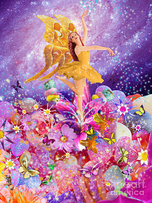 Candy Sugarplum Fairy Poster by Alixandra Mullins