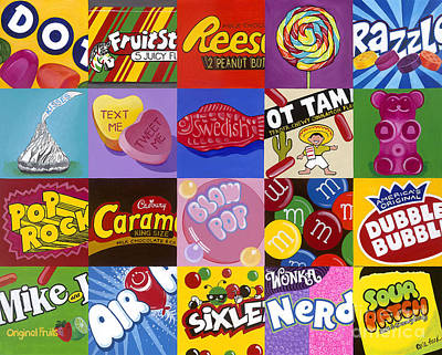 Candy Wrappers Poster by Carla Bank
