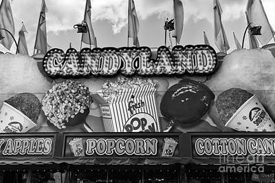 Candyland Mono Poster by John Rizzuto