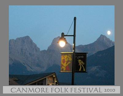 Canmore Folk Festival Poster by Cathy Long