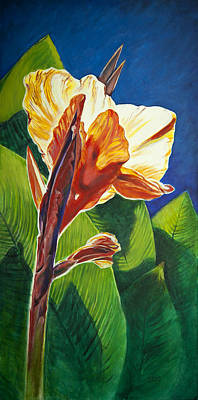 Canna Lilly Sunrise Poster by Kent Looft