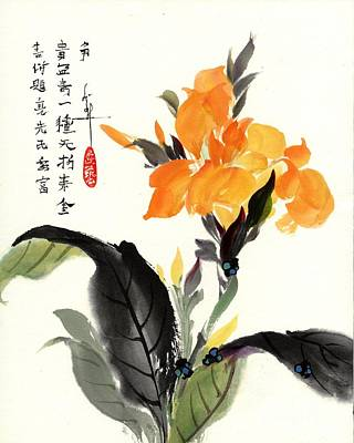 Canna Poster by Linda Smith