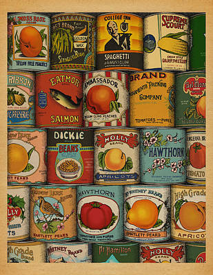 Poster featuring the drawing Canned by Meg Shearer