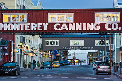 Cannery Row Area At Dawn, Monterey Poster