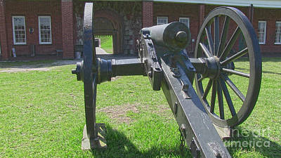 Cannon At Fort Pulaski Main Entrance Poster by D Wallace