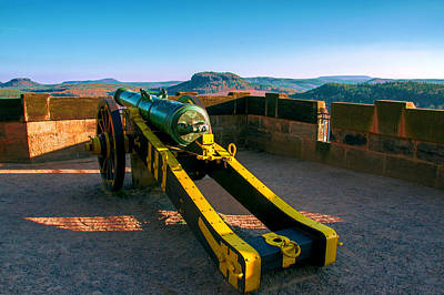 Cannon At The Fortress Koenigstein Poster