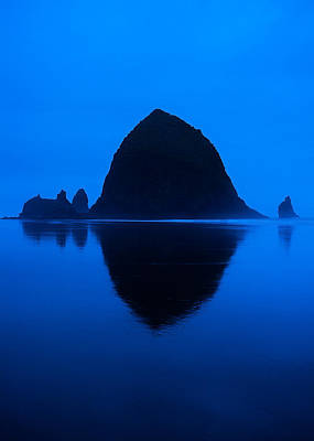 Cannon Beach Blue Poster