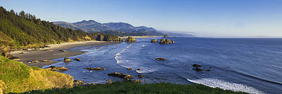 Cannon Beach Panorama Poster by Andrew Soundarajan