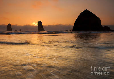 Cannon Beach Tides Poster by Mike Dawson