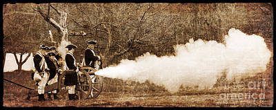 Cannon Fire Poster by Mark Miller