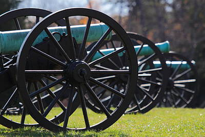 Cannons Of Manassas Battlefield Poster