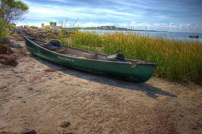 Poster featuring the photograph Canoe At Cedar Key by Donald Williams