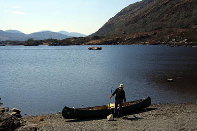 Canoe By The Lake Poster by Aidan Moran