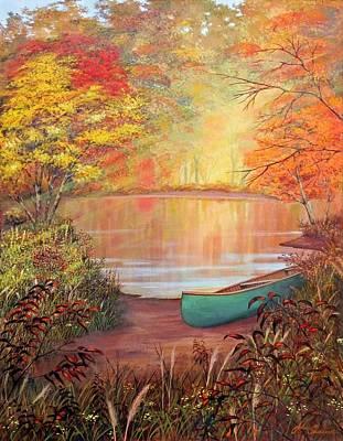 Canoe Landing  Poster by John Samsen