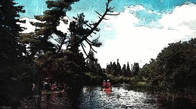 Canoeing In Ontario Poster by Pamela Blayney