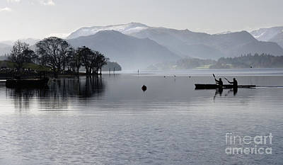 Canoeing On Ullswater Poster by Colin Woods