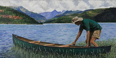 Canoeing Vallecito Poster