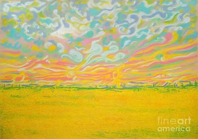 Canola Field In Spring Poster by Jo-Anne Elniski