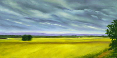 Poster featuring the painting Canola by Jo Appleby