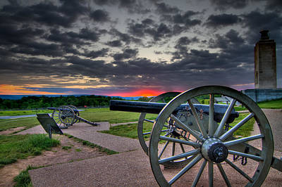 Canon Over Gettysburg Poster