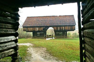 Cantilever Barn In Smokey Mtn Natl Pk Poster