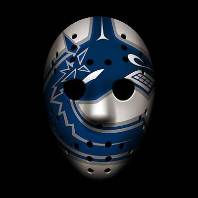 Canucks Goalie Mask Poster by Joe Hamilton
