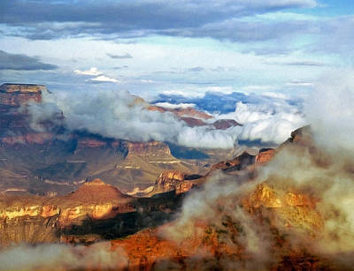 Poster featuring the photograph Canyon Clouds by Alan Socolik
