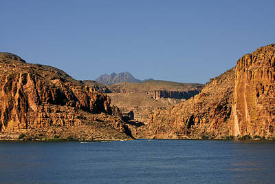 Canyon Lake Of Arizona - Land Big Fish Poster