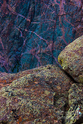 Canyon Rock Abstract Poster
