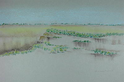 Poster featuring the pastel Canyon View by Michele Myers