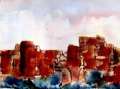 Poster featuring the painting Canyonlands by Anne Duke