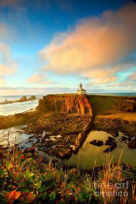 Cape Arrago Lighthouse1 Poster by Joe Klune