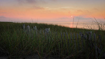 Cape Cod Bay Sunset Poster by Bill Wakeley