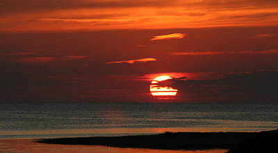 Cape Cod Bay Sunset Poster by Jim Gillen