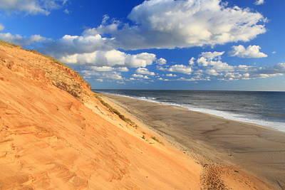 Cape Cod Colorful Dune White Crest Ocean Beach Poster by John Burk